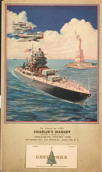 Guardian of Liberty Original Patriotic WWII Calendar