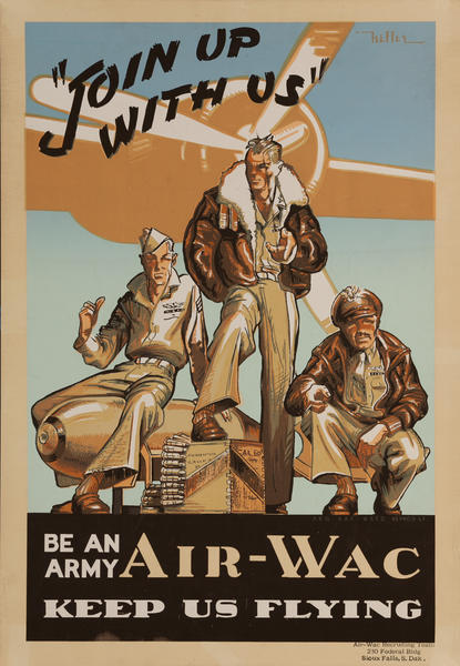 Join Up With Us Be An Army Air Wac Keep Us Flying, World War Two Recruiting Poster