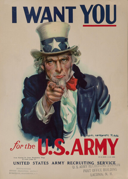 I Want YOU For the Army Original WWII American Recruiting Poster