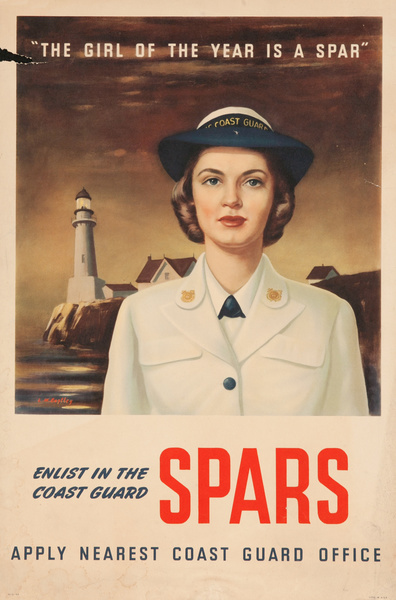 The Girl of the Year is a Spar,  WWII Women's Recruiting Poster SPARS