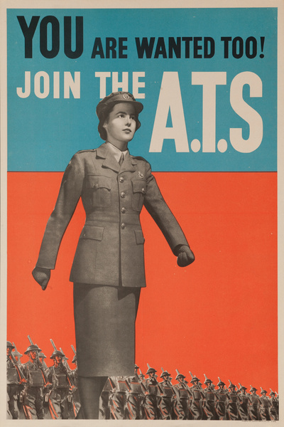 You are wanted too! Join the ATS Original Vintage British WWII Poster