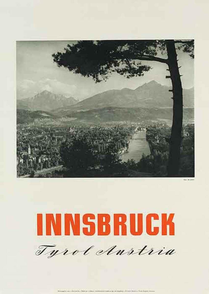 Innsbruck Tryol Austria Original Travel Poster Landscape photo