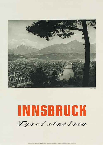 Innsbruck Tryol Austria Original Travel Poster Landscape photo