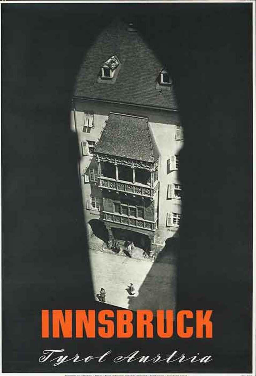 Innsbruck Tryol Austria Original Travel Poster City photo