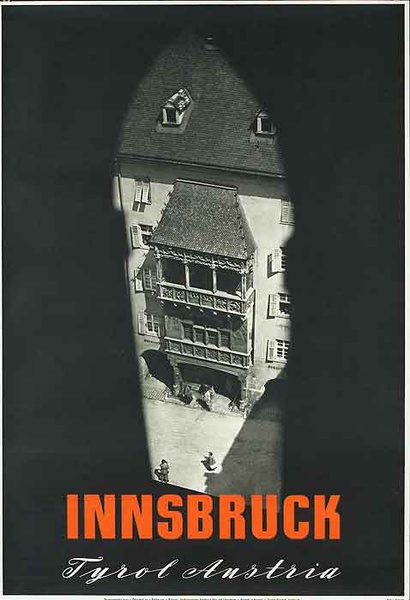 Innsbruck Tryol Austria Original Travel Poster City photo
