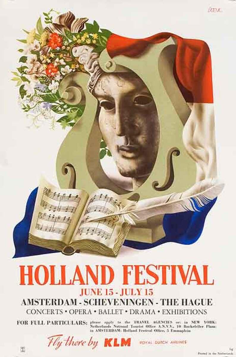 Holland festival Original Travel Poster