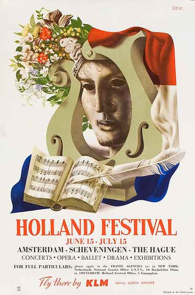 Holland festival Original Travel Poster
