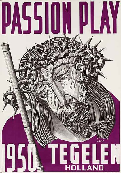 Passion Play Tegelen Holland Original Travel Poster
