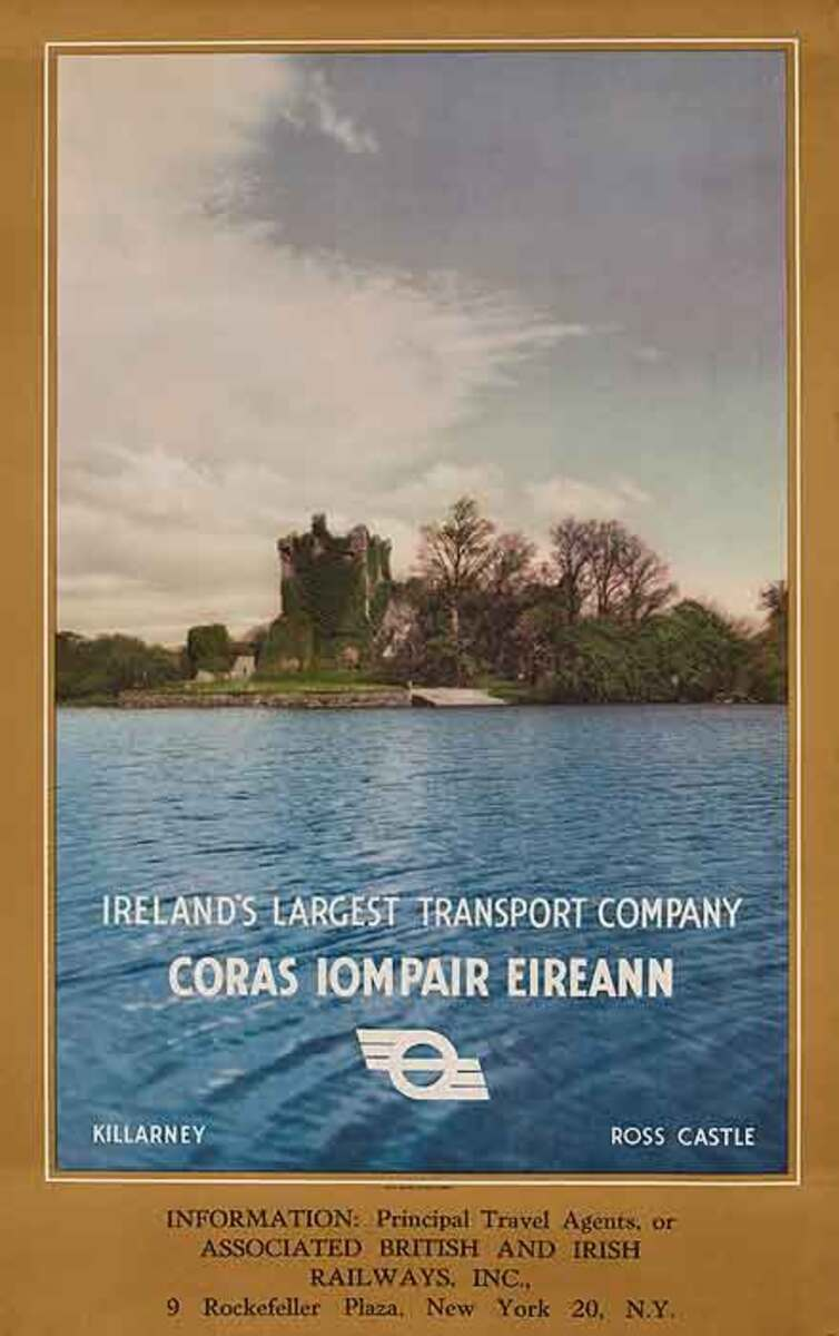 Ireland's Largest Transport Company Coras Iompair Eireann Original Travel Poster
