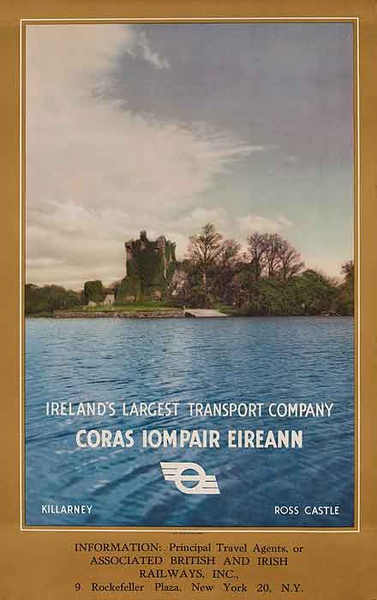 Ireland's Largest Transport Company Coras Iompair Eireann Original Travel Poster