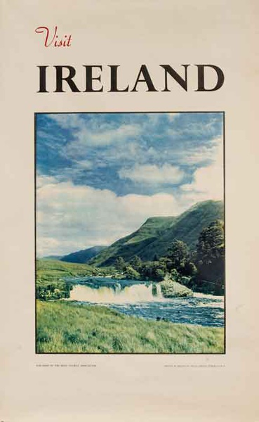 Visit Ireland Scenic Photo Original Travel Poster
