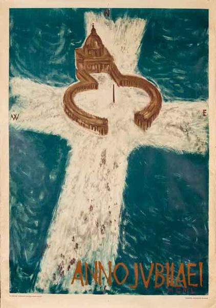 Anno Jubilaei Original Rome Italy Travel Poster