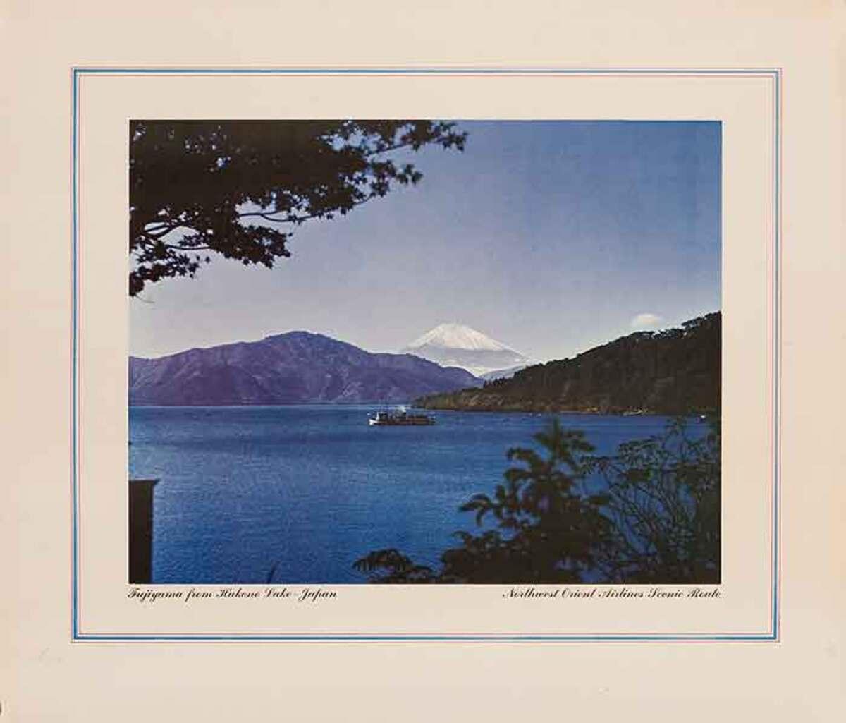 Mt Fuji From Hakone Lake Original Japanes Travel Poster