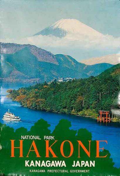 Hakone National Park Kanagawa Japan Original Travel Poster