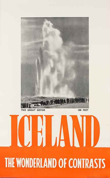 Iceland The Wonderland Of Contrasts Original Travel Poster
