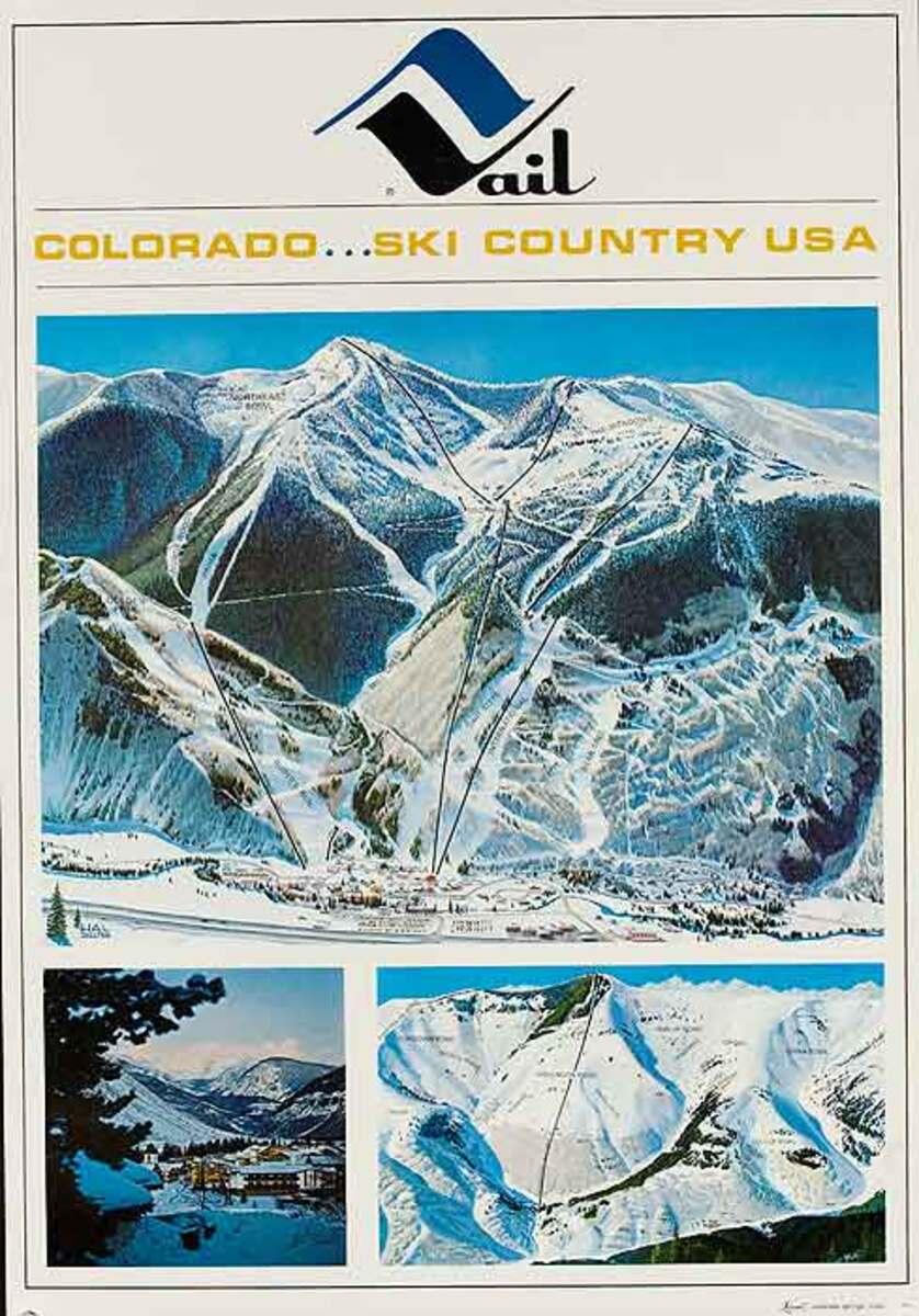 Vail Colorado Original Travel Poster Ski Country USA