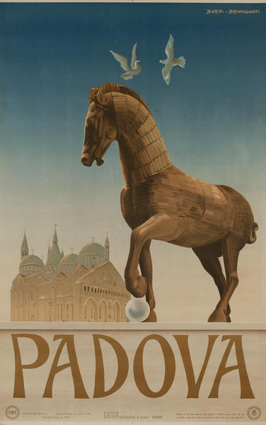 Padova Italy ENIT Original Travel Poster Horse
