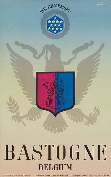 Bastogne belgium Original Travel Poster