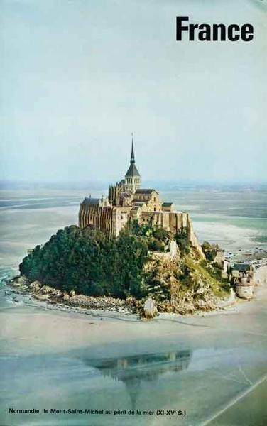 Mont Saint-Michel Original Original Travel Poster photo