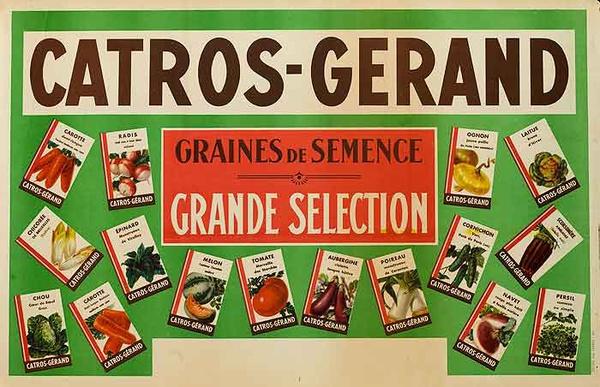Catros- Gerand Seeds Original French Advertising Poster