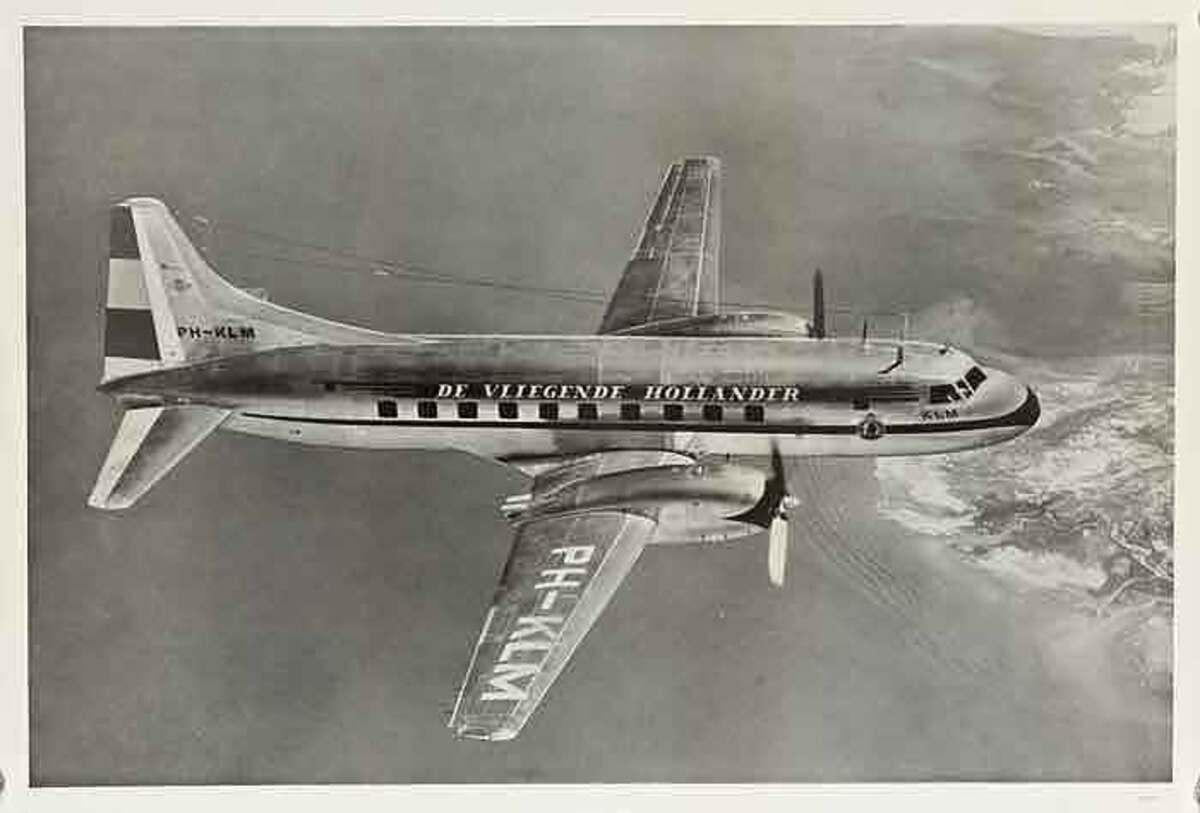 KLM Flying Airplane Original Travel Poster