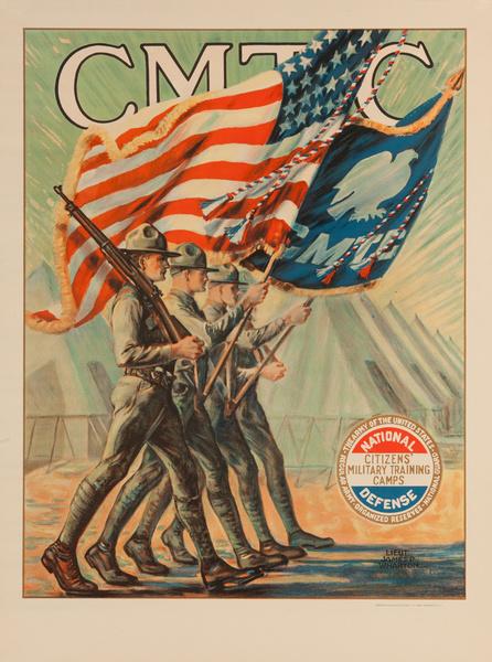 CMTC Citizen's Military Training Camp Original Recruiting Poster