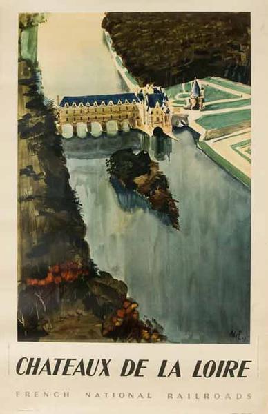 Original French Travel Poster Chateaux de la Loire