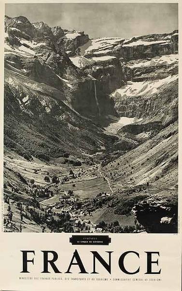 Original French Travel Poster Pyrenees B&W Photo