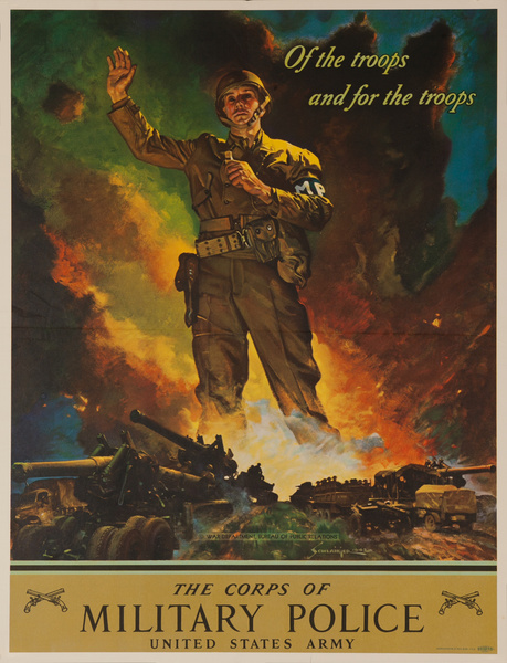 Military Police Original American WWII Recruiting Poster
