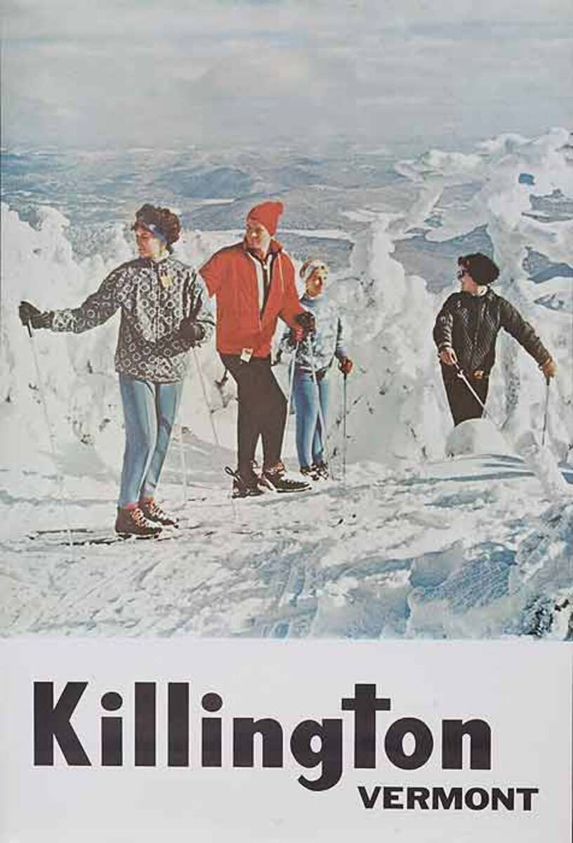 Killington Vermont Original American Ski Travel Poster