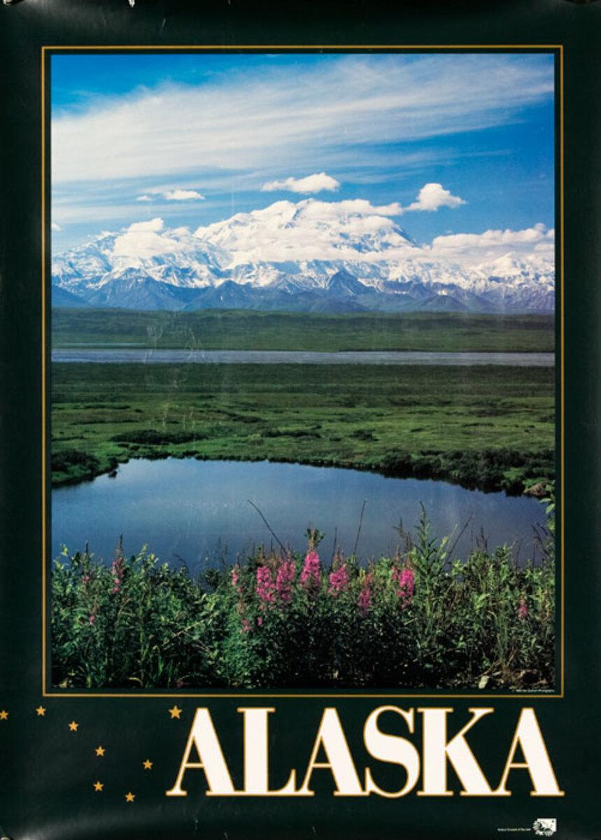 Alaska Mountain Scene Photo Original Travel Poster