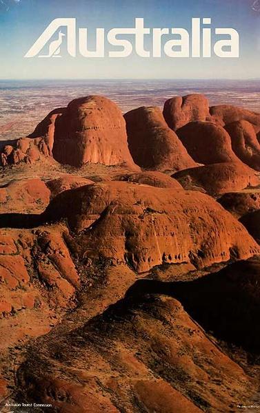 Australian Tourist Board Original Travel PosterRed Rocks Photo