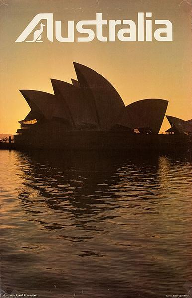 Australian Tourist Board Original Travel Poster Sidney Opera House Photo