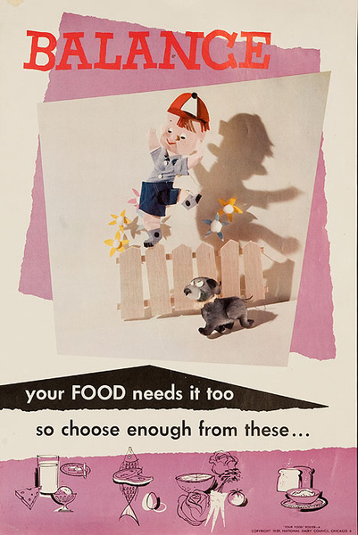 Balance Original National Dairy Council Health Poster