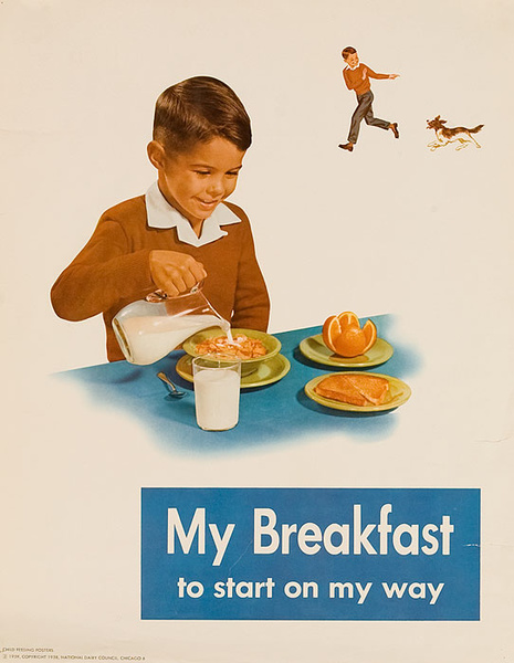 My Breakfast Original National Dairy Council Health Poster