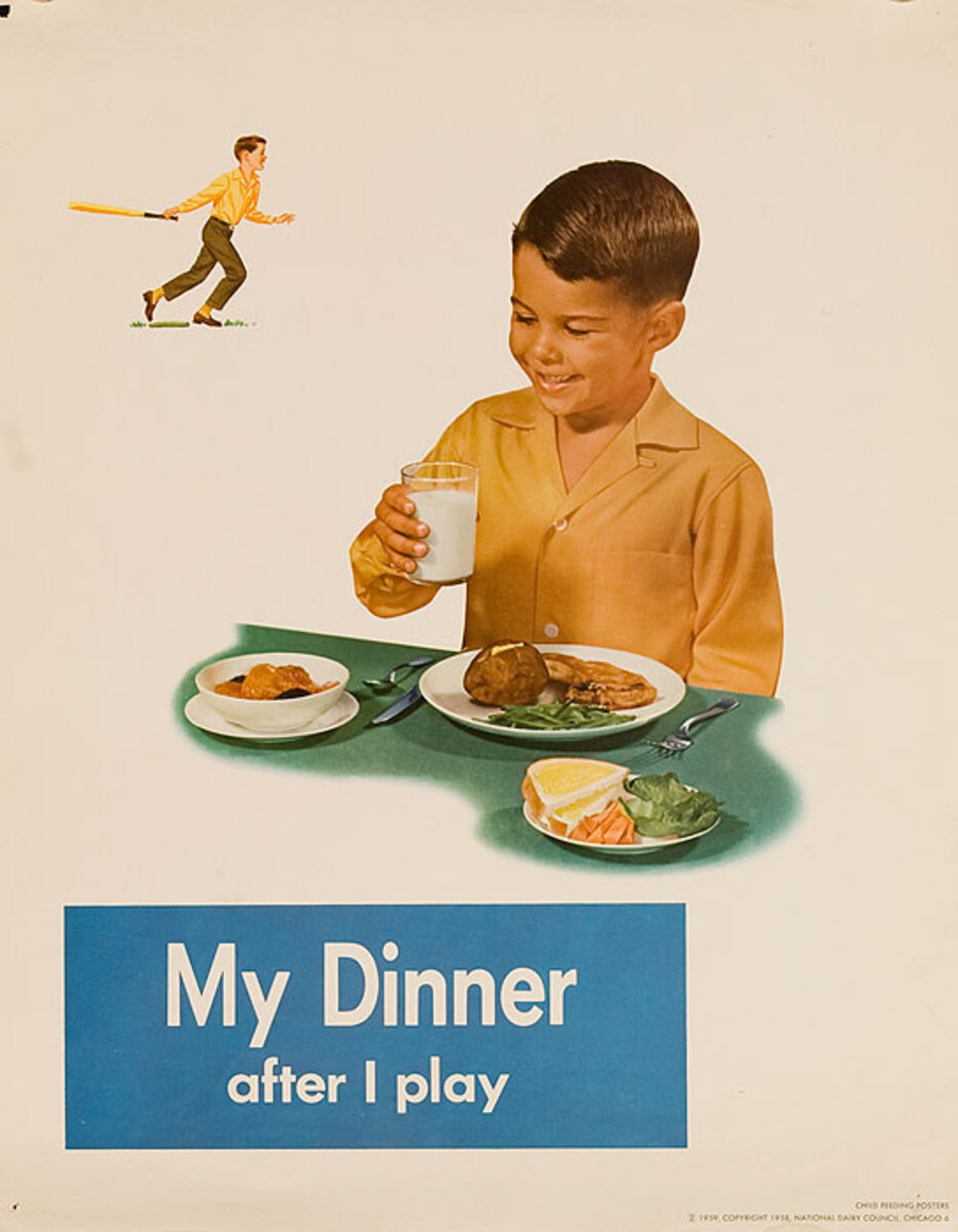 My Dinner Original National Dairy Council Health Poster