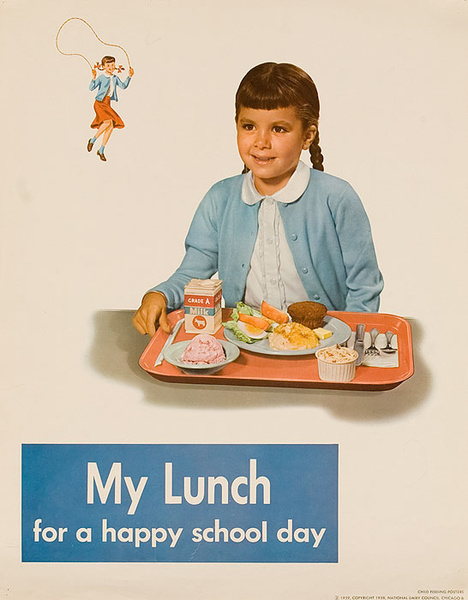 My Lunch Original National Dairy Council Health Poster