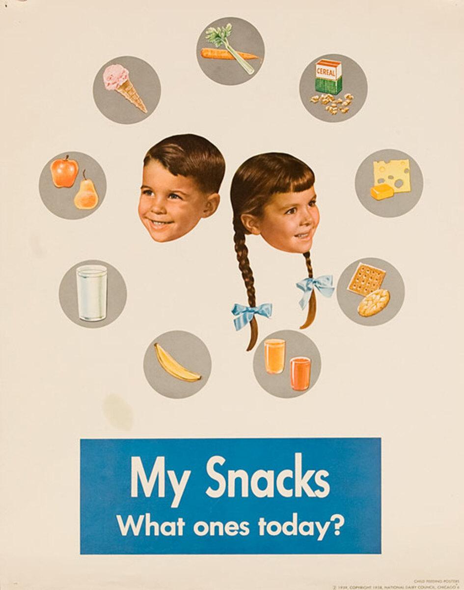 My Snacks Original National Dairy Council Health Poster