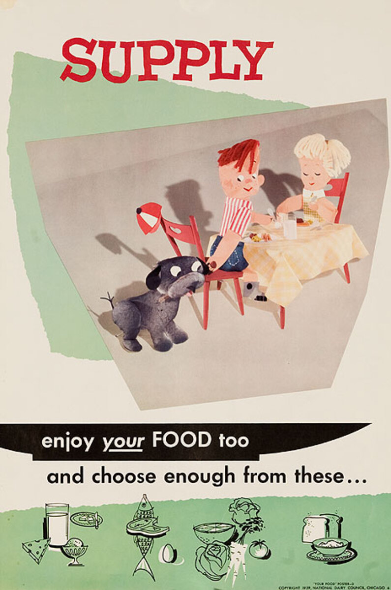 Supply Original National Dairy Council Health Poster