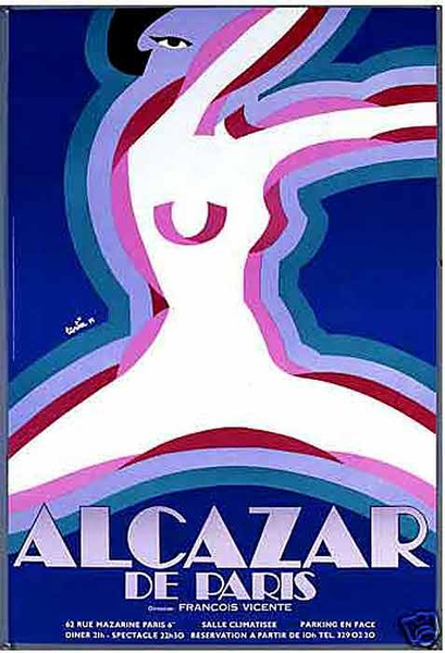 Alcazar de Paris Original French Cabaret Poster