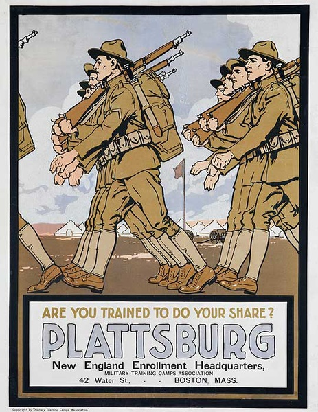 Are You Doing Your Share American WWI Recruiting Poster Plattsburg