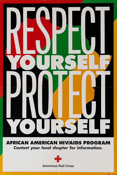 Respect Yourself Protect Yourself American Red Cross AIDS Health Poster