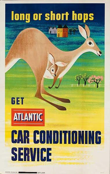 Long or Short Hops Get Atlantic Car Service American Advertising Poster