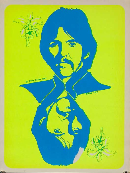 George Harrison Psychedelic Black Light Poster, The Beatles