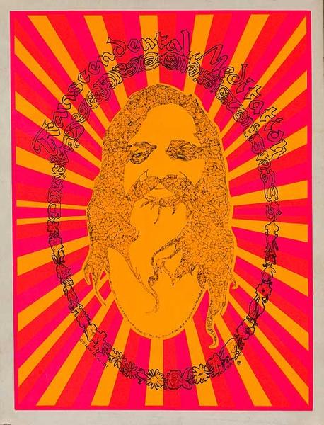 Transcendental Meditation Psychedelic Black Light Poster