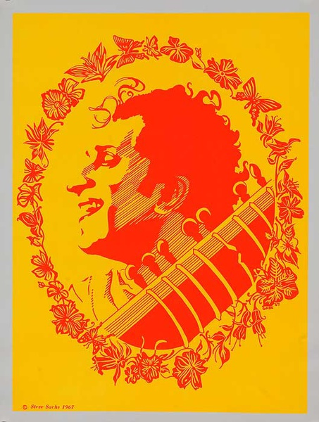 Ravi Shankar Psychedelic Black Light Poster