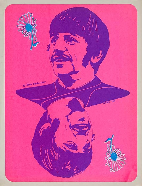 Ringo Starr Psychedelic Black Light Poster, The Beatles