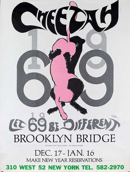 Cheetah 1969 - Brooklyn Bridge Original Club Poster