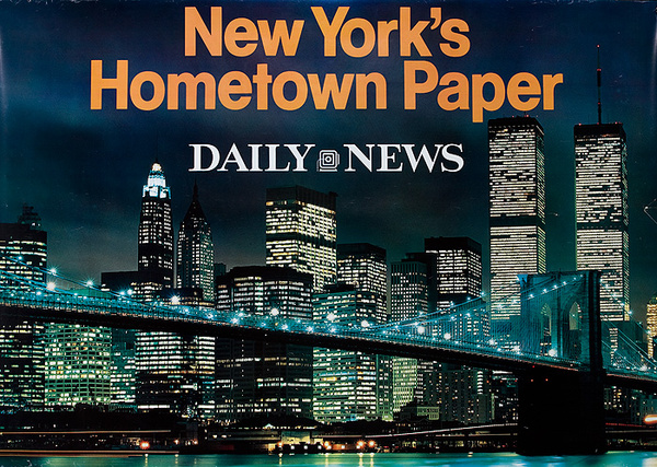 New York's Hometown Paper, The Daily News Original Advertising Poster