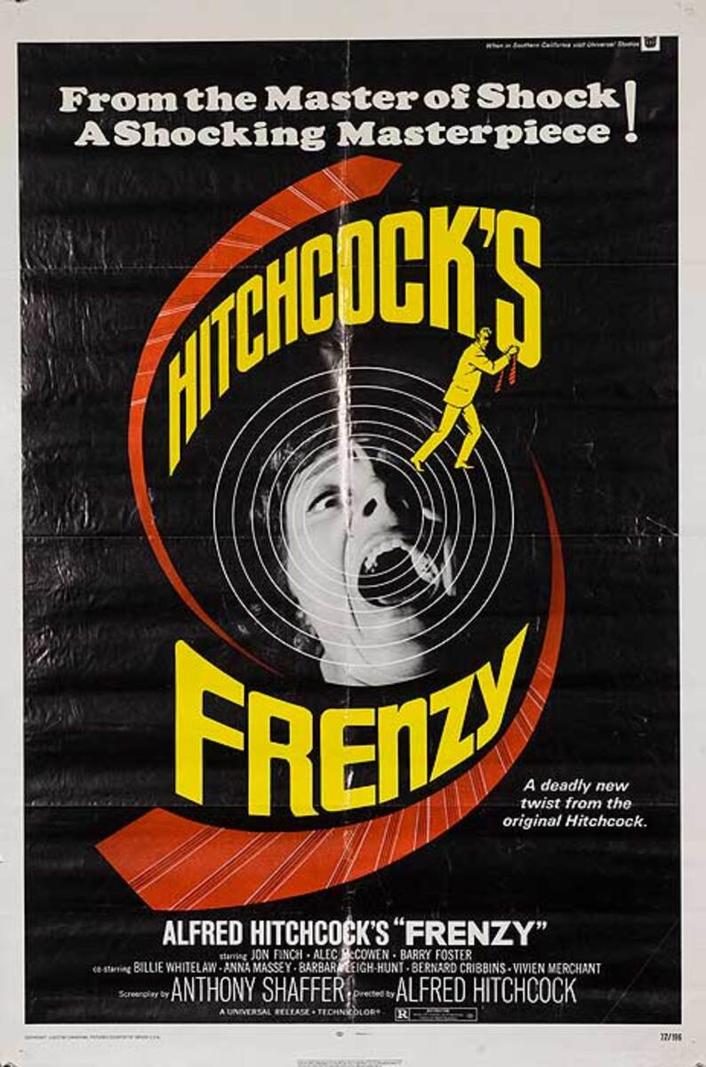Alfred Hitchcock Frenzy Movie Poster